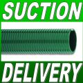 "32mm 1 1/4"" MEDIUM DUTY GREEN PVC SUCTION & DELIVERY HOSE 30 MTR COIL"